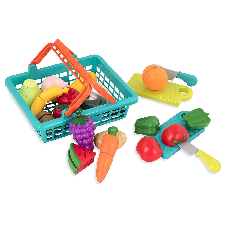 Battat Farmers Market Pretend Play Food & Cutting Board Playset (37Piece)