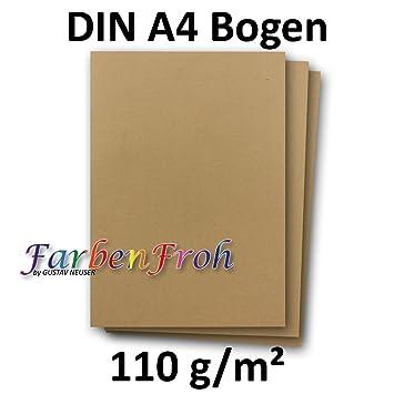 50x Din A4 Papier Planobogen Sandfarbennatur Braun 160 Gm² 21 X 297 Cm Ton Papier Fotopapier Bastel Papier Brief Papier Farbenfroh