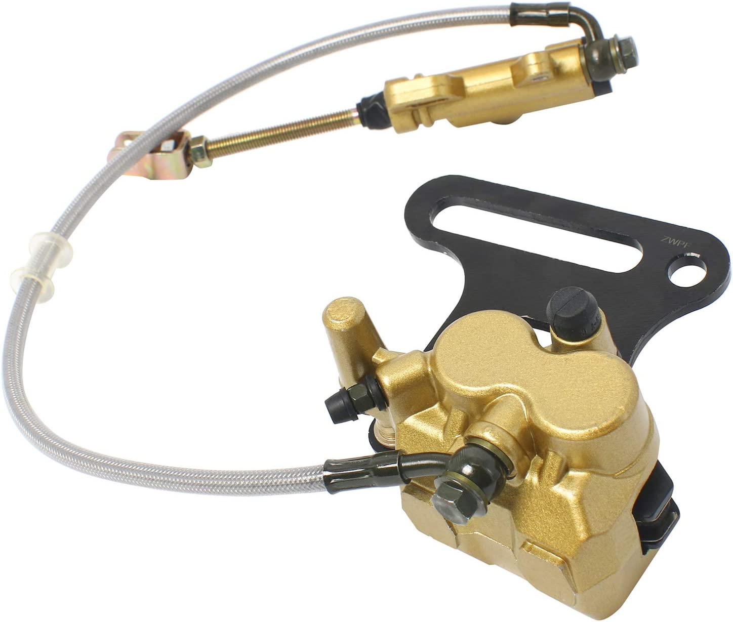 NovelBee Rear Hydraulic Disc Caliper Brake Assembly Master Cylinder for ATV Fit 12mm Wheel Shaft