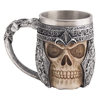 Amazon.com: CHICVITA Viking Stainless Steel Skull Coffee Mug Viking Skull Beer Mugs Gift for Men Father's Day Gifts: Kitchen & Dining