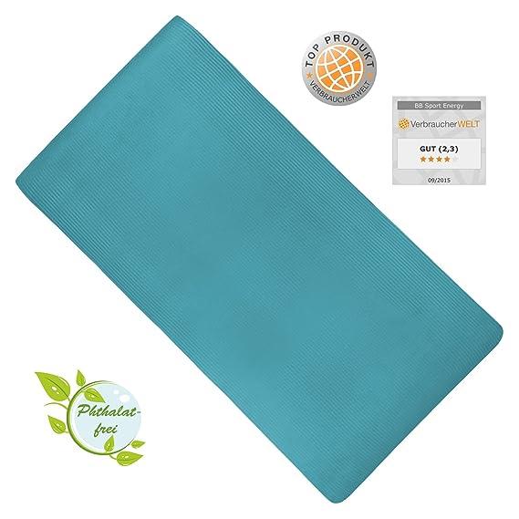 Esterilla colchoneta -de yoga -ENERGY 190 cm x 100 cm x 1.5 cm para fitness deportiva pilates gimnasia ejercicio, Color:Fresh Turquoise: Amazon.es: Deportes ...