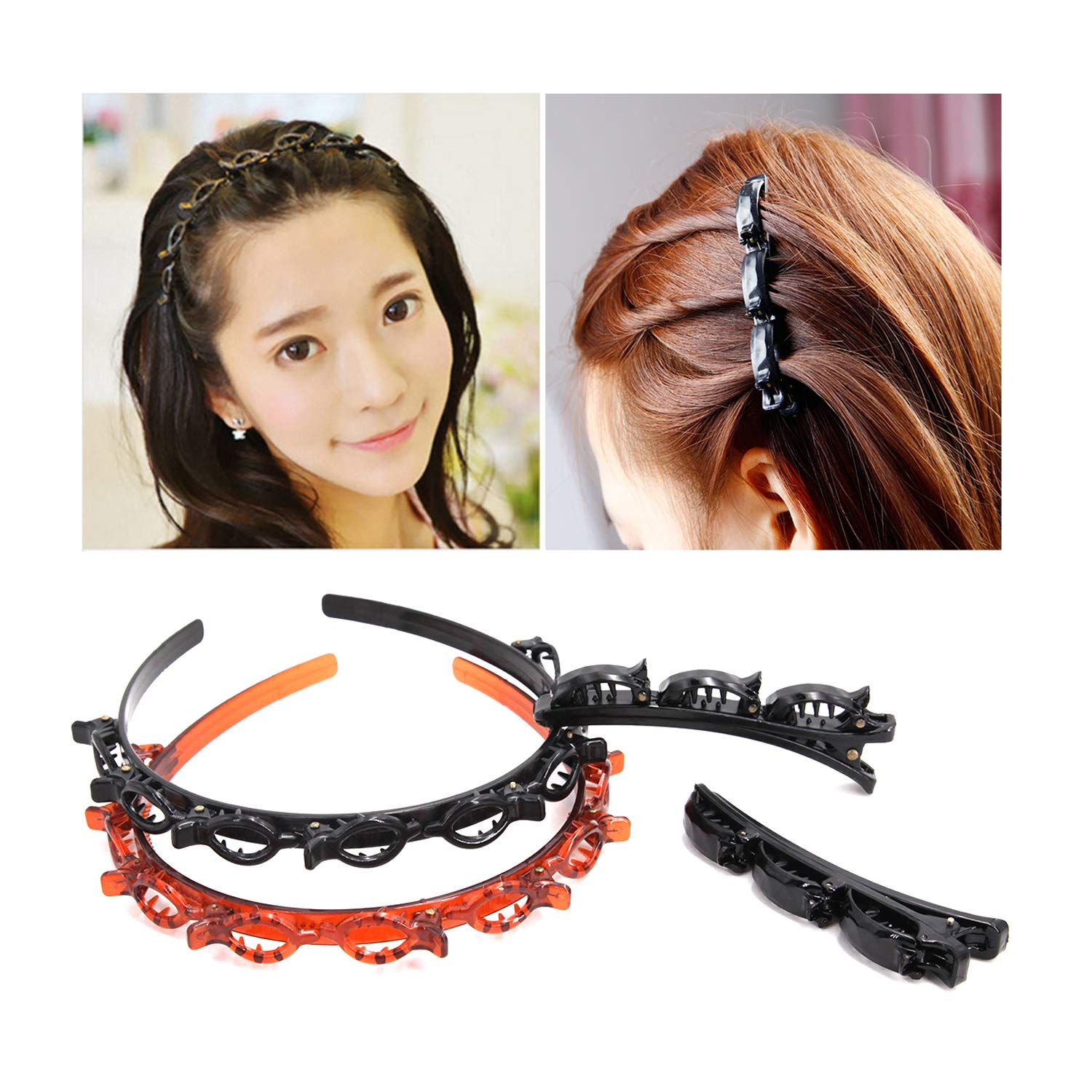 1pcs Plastic Styling Tool Hair Braider Clips Claws Clamps Grips Hair Accessories
