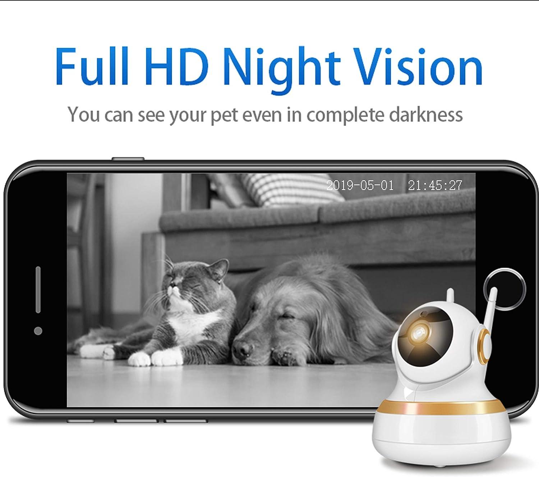 Vinsion HD 1080p Pet Camera,Dog Camera Pet Monitor Indoor Cat Camera HD Night Vision Two Way Audio and Motion Detection
