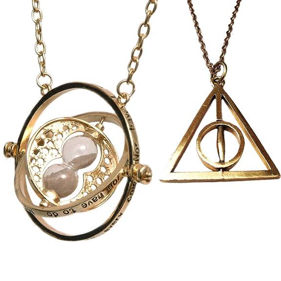 136 opinioni per Set Di Due Collane Harry Potter- Clessidra girevole Hermione Giratempo e Death