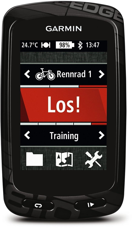 Garmin - Edge 810 avec ceinture cardio, capteur de Vitesse/Cadence - Compteur GPS de vélo - Ecran tactile couleur de 2,6'' - Carte City Navigator Europe - Noir