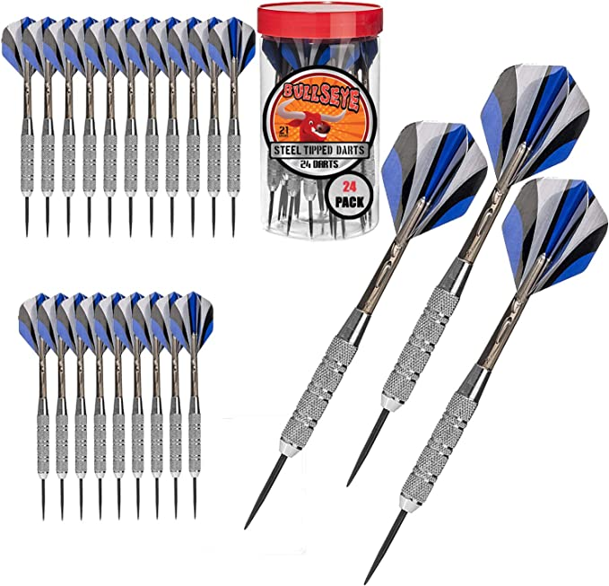 Bullseye Steel Tip Metal Darts – Ideal For Get-Togethers At Your Place