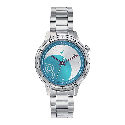 4. Fastrack Space Analog Blue Dial Watch