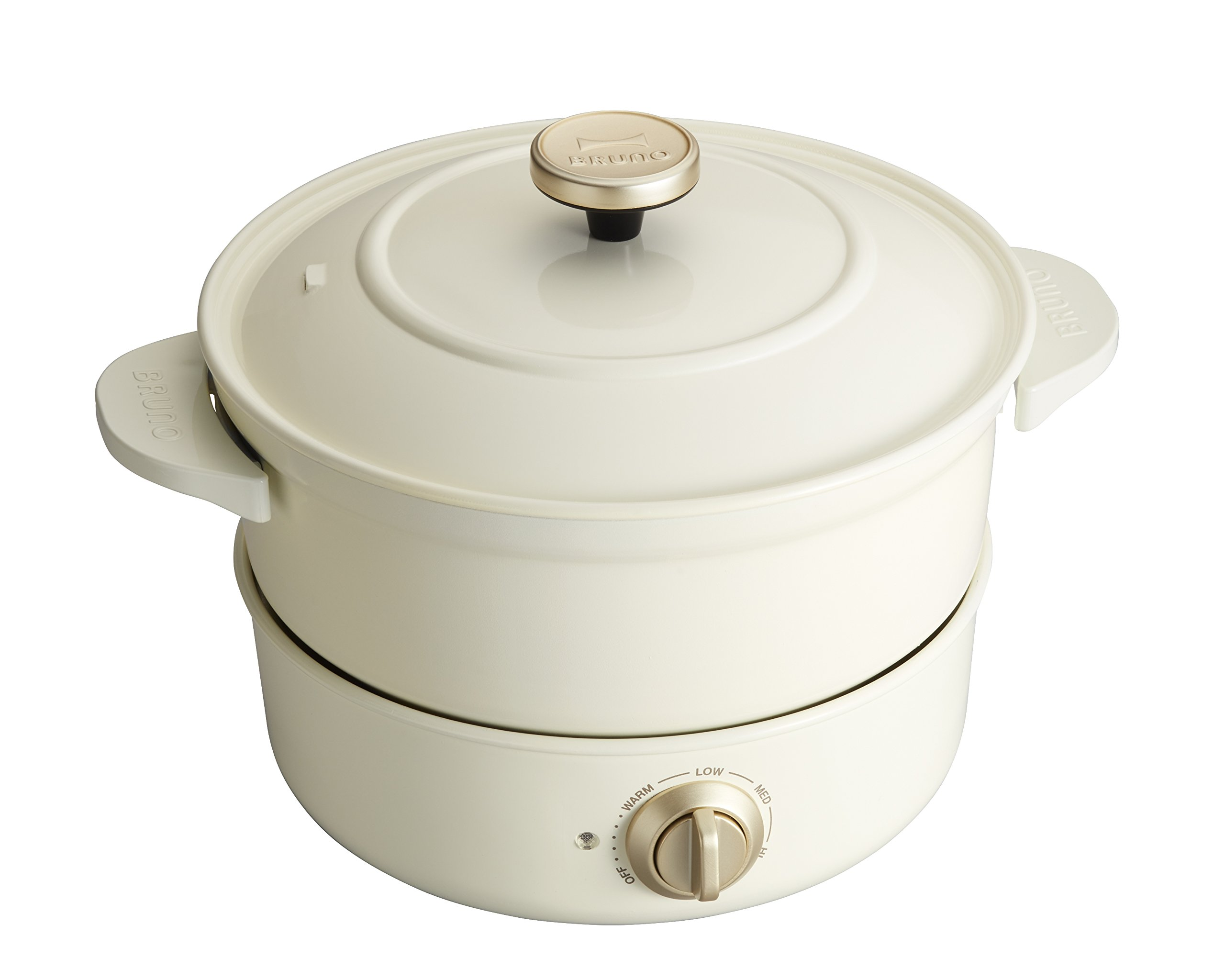 BRUNO Electric grill pot BOE029 (White) by IDEA International