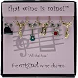 Wine Things WT-1400P All That Jazz Wine Charms, Painted