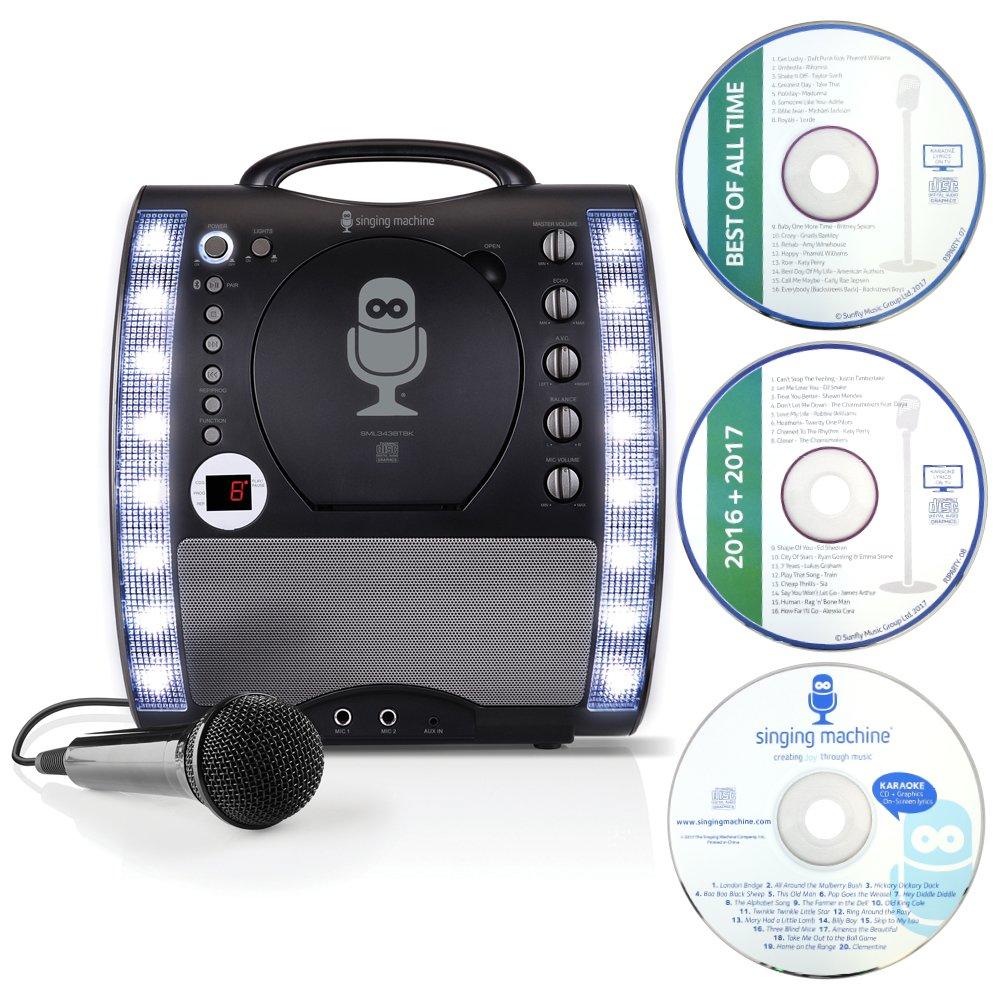 Singing Machine SML343BTBK Karaoke con Bluetooth, Nero