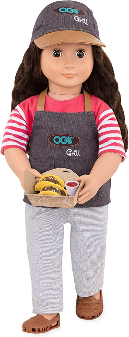 """18/"""" doll BBQ grill cooking NEW Fits American Girl Our Generation"""