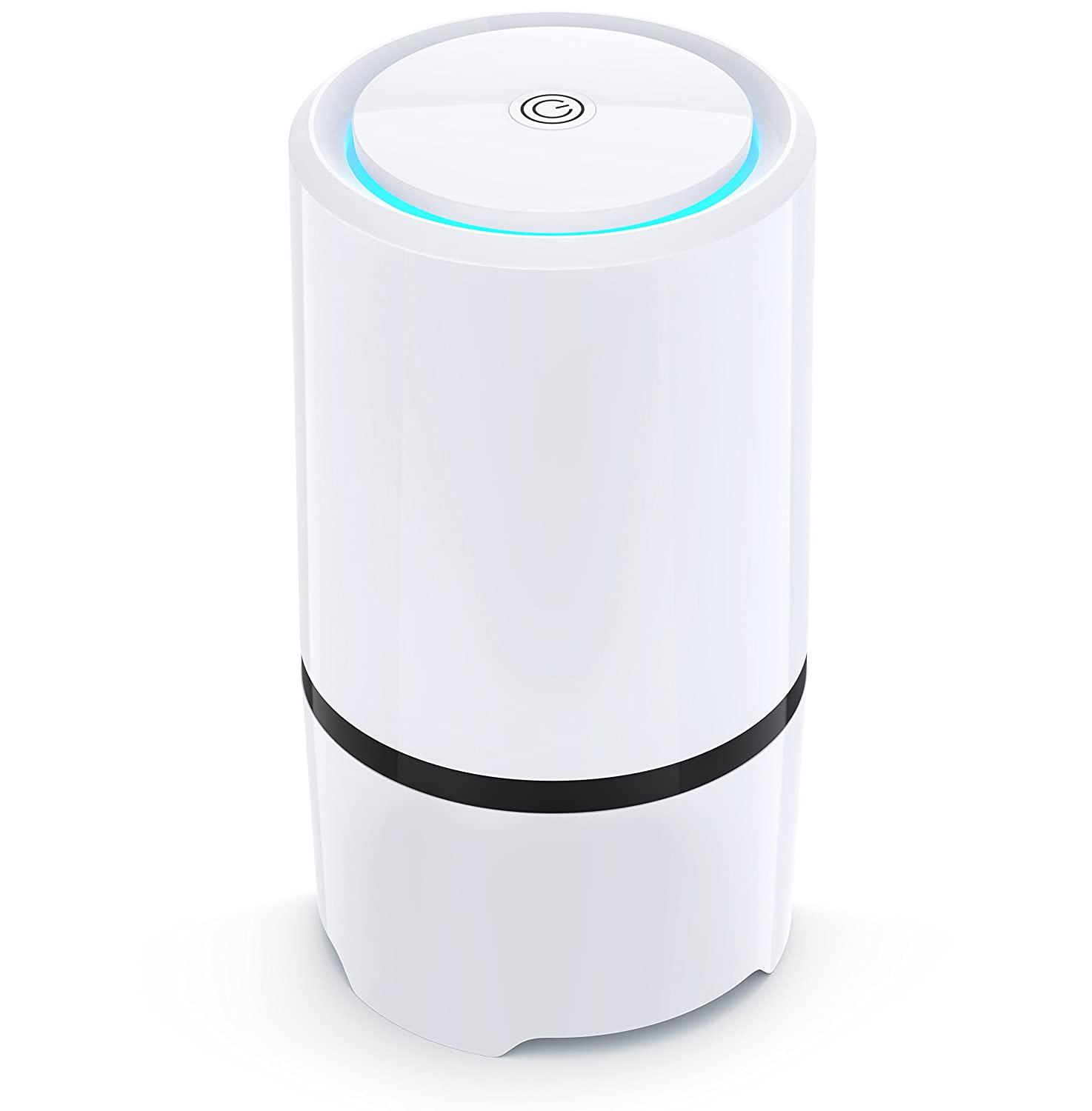 NET-DYN Air Purifier - USB Air Filter, HEPA Filtration and Small Personal Desktop Home Air Cleaner for Eliminating Harmful Allergens, Bacteria, Allergies and Pets Pure Pacific Air
