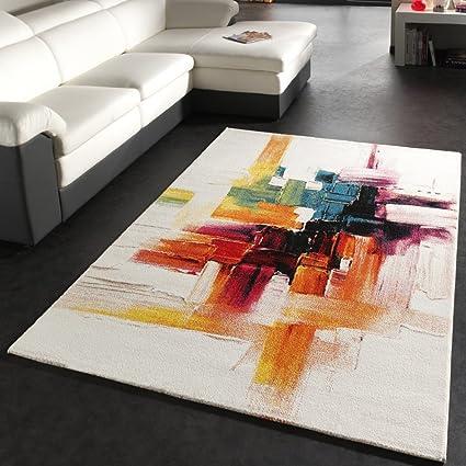 PHC Tappeto Moderno Splash Di Design Tappeto Colorato A Pennellate ...