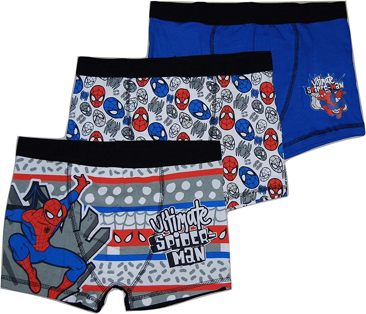 Marvel Spiderman Boys Pants 100/% Soft Cotton Pants Baby Boys Toddler Underpants Trunks Short Boxers 2 to 6 Years Childrens Underwear Multipack of 5 Briefs