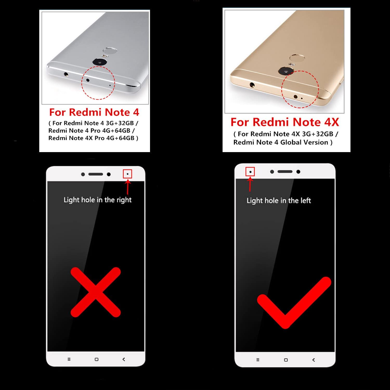 2-Pack]Xiaomi Redmi Note 4X Cristal Templado,Amytech Protector de ...