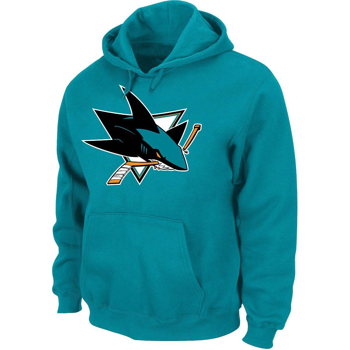 NHL Kaputzenpullover/Hoody/Hoodie SAN Jose Sharks Teal Logo in Large (L) Hooded Sweater Majestic M09918112GE7BH