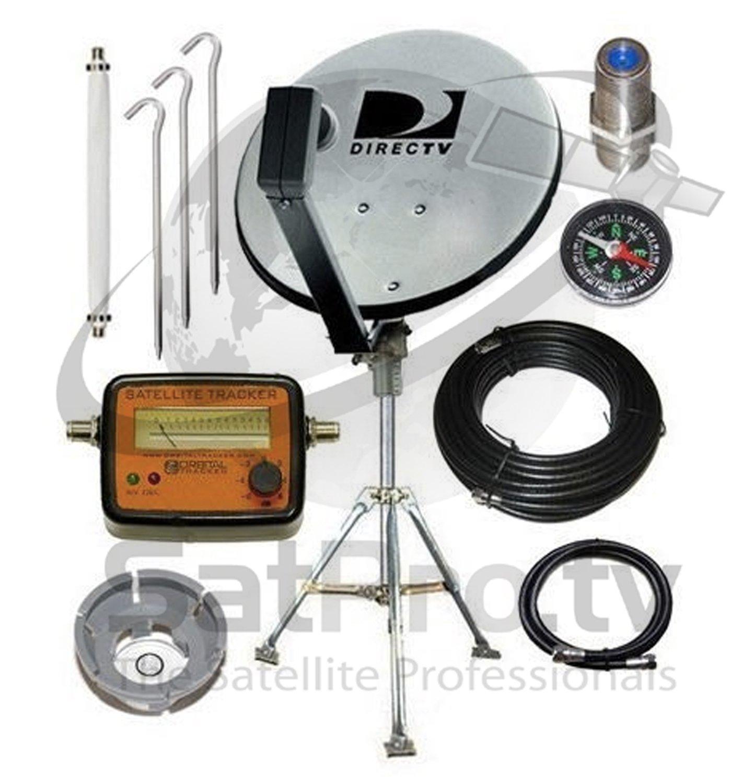 Amazon DirecTV 18 Dish Portable Satellite Kit For RV Camping Tailgating With Meter Electronics