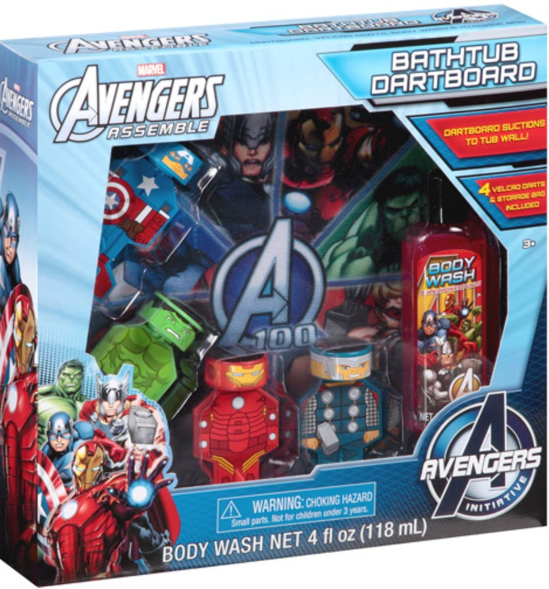 Marvel The Avengers Bathtub Dartboard Bath Gift Set: Amazon.co.uk ...