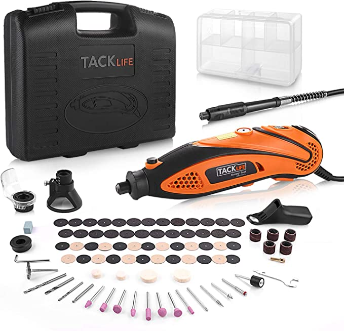 TACKLIFE Rotary Tool Kit Variable Speed with Flex shaft, 80 Accessories and 4 Attachments and Carrying Case, Multi-functional for Around-the-House and Crafting Projects-RTD35ACL - - Amazon.com
