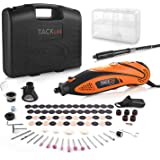 TACKLIFE Rotary Tool Kit Variable Speed with Flex shaft, 80 Accessories and 4 Attachments and Carrying Case, Multi…