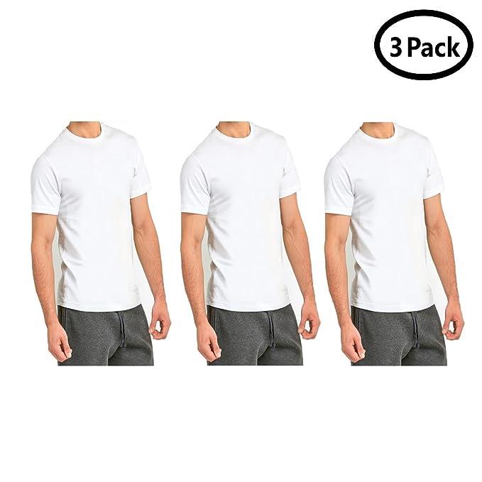 bcbc5206 Qraftsy Men Roundneck 100% Cotton Plain T-Shirt - Bulk Wholesale - 3 Pack