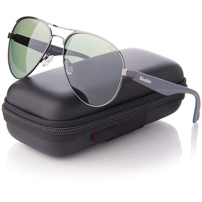 1bfe8978c3 Gafas de sol de Aviador polarizadas Verdster para Hombres - Protección  UV400 - gris: Amazon.es: Ropa y accesorios