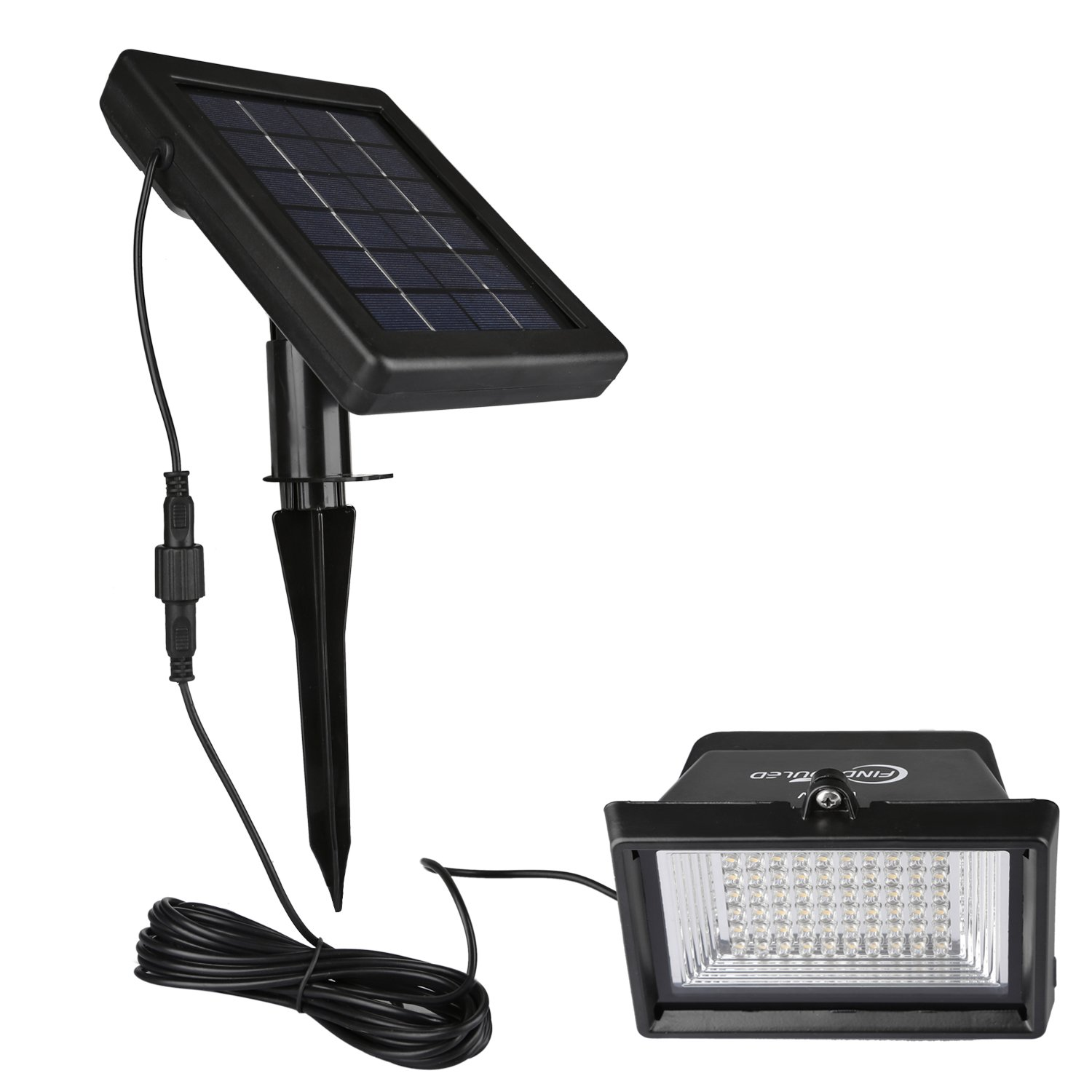 Amazon findyouled solar flood lights outdoor landscape amazon findyouled solar flood lights outdoor landscape lighting 60led120lumen cast aluminium wallin ground lights 2 in 1 adjustable light with a aloadofball