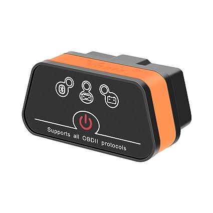 Vgate iCar2 Bluetooth OBD2 ELM327 Diagnostic Scanner Black for Android Code Readers & Scanners