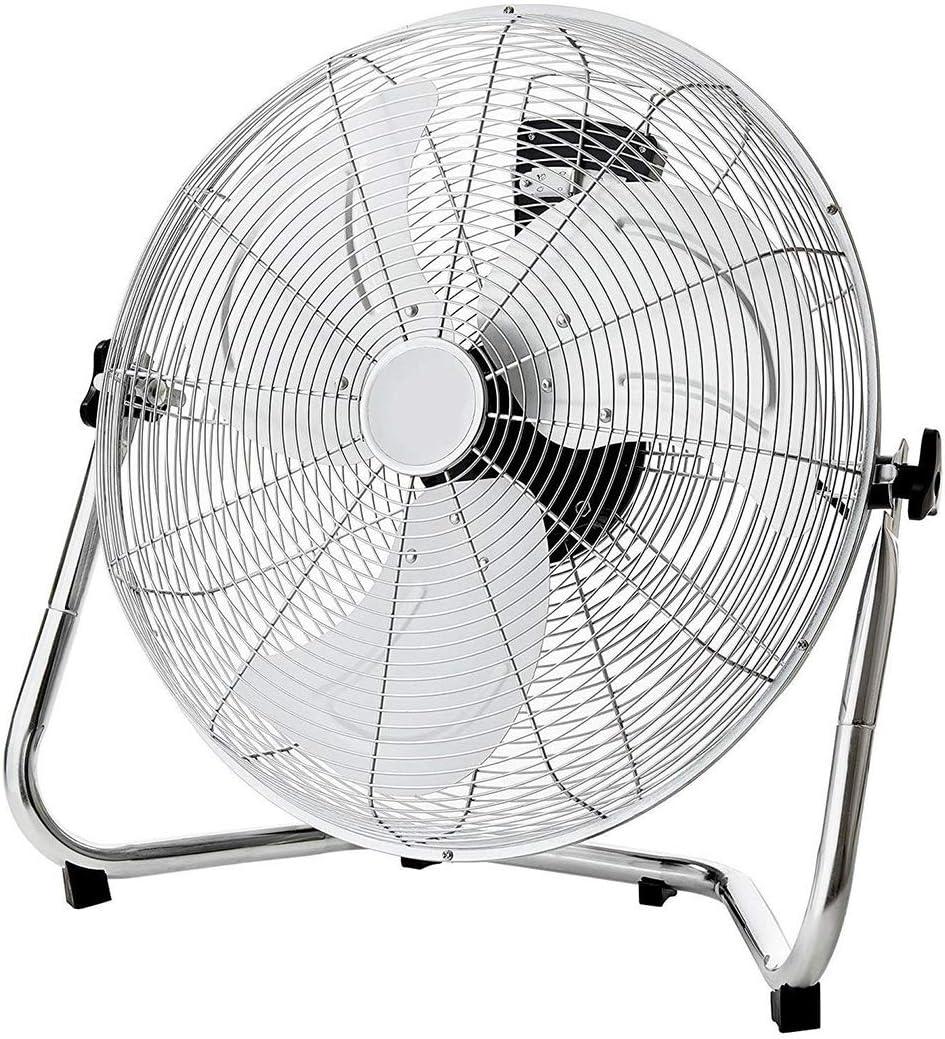 Ventilador Industrial, Ventilador de Escritorio de Metal Enfriador de Metal Ventilador de enfriamiento Silencio silencioso con cáscara de Metal y Cuchillas de Aluminio