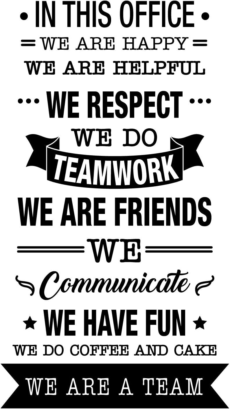 40 x 22 Trendy Inspirational Work Values Quote for Employers Office Workplace Company Organization School Sticker Decoration Vinyl Wall Art Decal in This Office We Do Teamwork