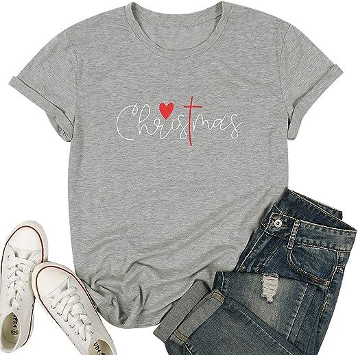 NANYUAYA Love Heart T Shirt Women Valentines Day Cute Heart Print Tops Tees Casual Short Sleeve Holiday Shirts Tops