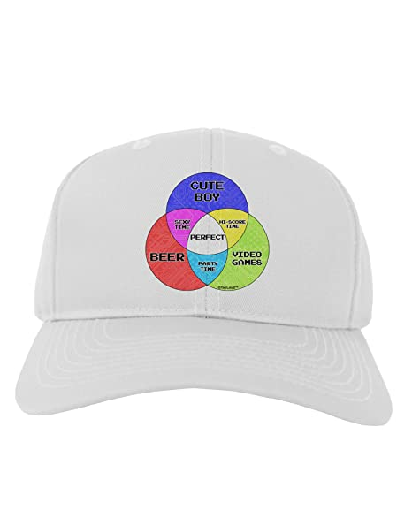 f030e15528c Amazon.com  TooLoud Beer Boy and Games Diagram Adult Baseball Cap ...