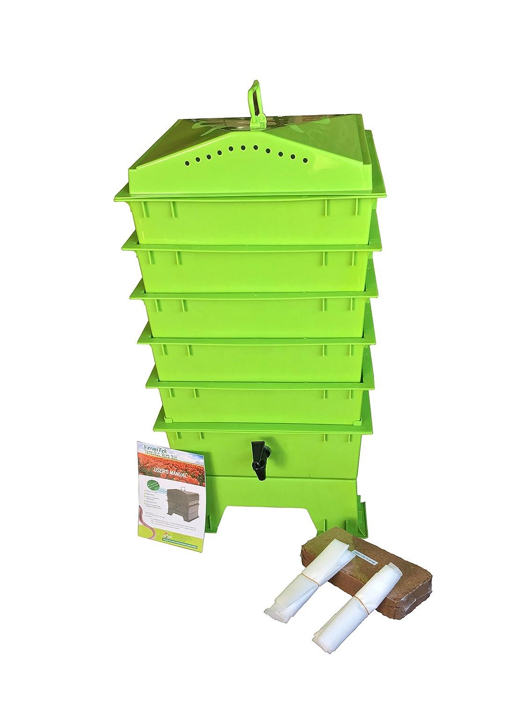 Amazon.com: VermiHut cesto para abono con gusanos de 5 ...