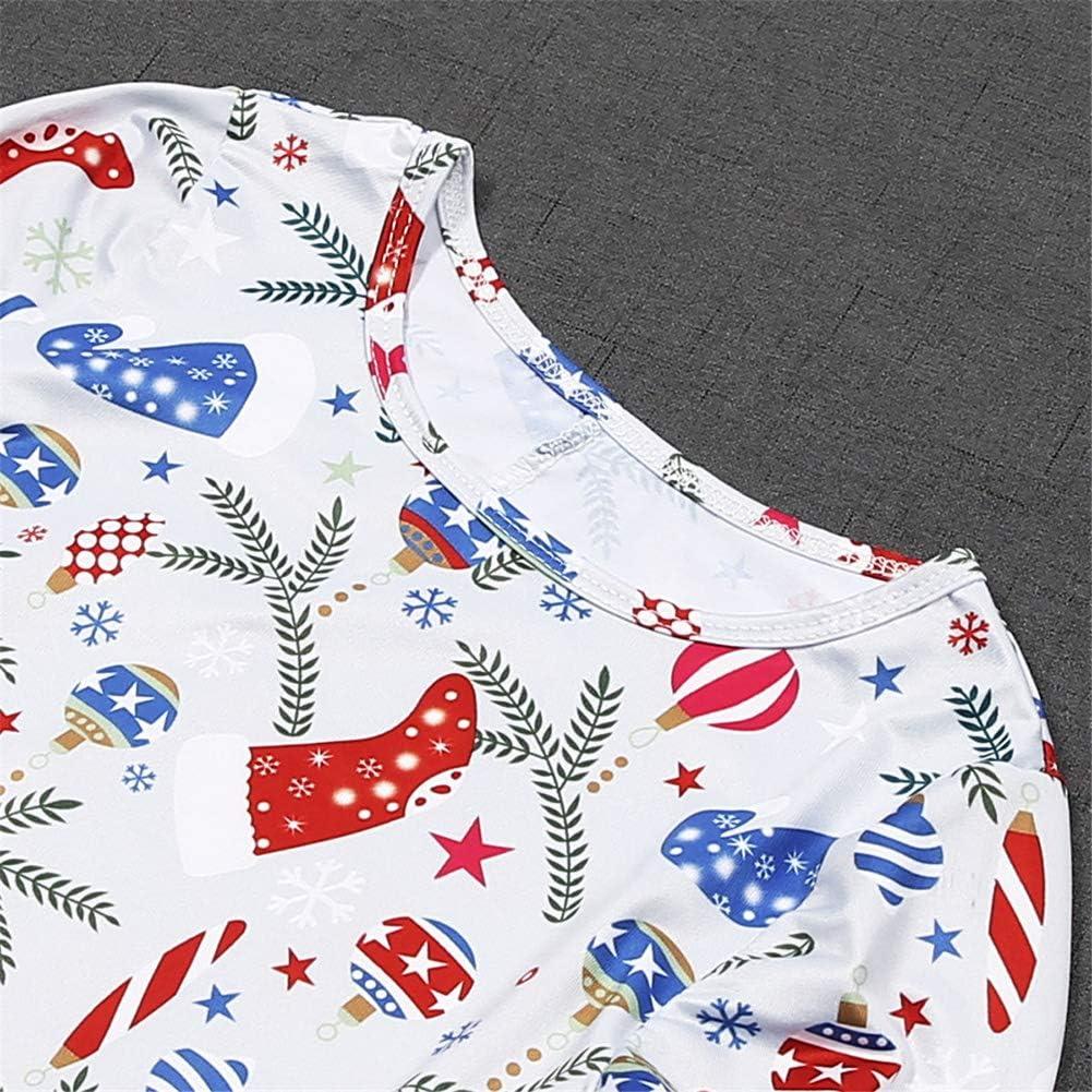 Vawal Mother Daughter Christmas Santa Dress Long Sleeve Ruffle Dresses Family Matching Outfits