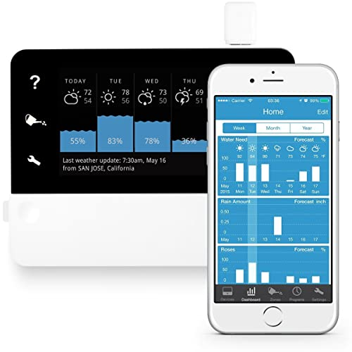 RainMachine Touch HD-12, Cloud Independent, The Forecast Sprinkler, Wi-Fi Irrigation Controller