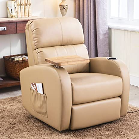 Soges Luxurious Manual Recliner Chair Lounge Sofa Living Room Chair Home Theatre Chair Beige 535 & Amazon.com: Soges Luxurious Manual Recliner Chair Lounge Sofa ... islam-shia.org