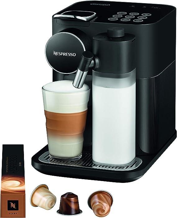 De'Longhi Nespresso Gran Lattissima EN650B Cafetera monodosis de cápsulas (con depósito de leche compacto, 19 bares, 9 recetas, apagado automático)