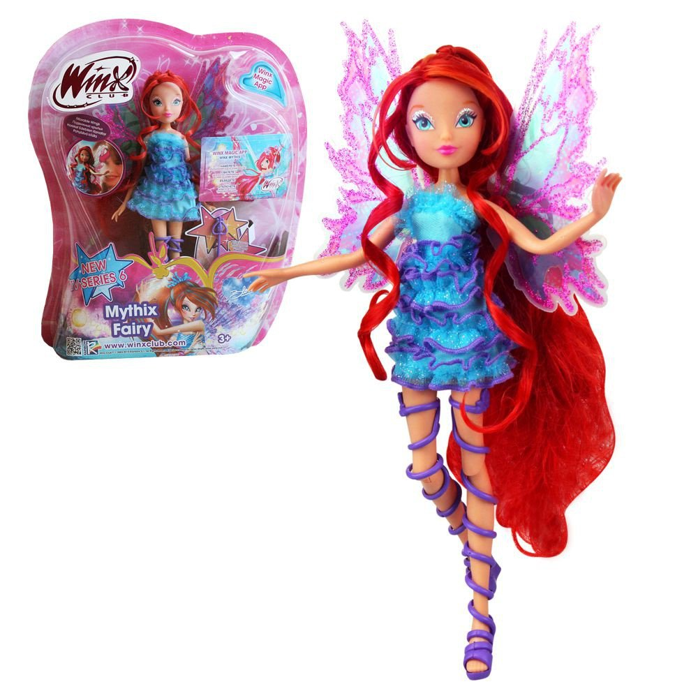 Winx Club - Mythix Fairy - Bloom Bambola 28cm con scettro Mythix Witty Toys