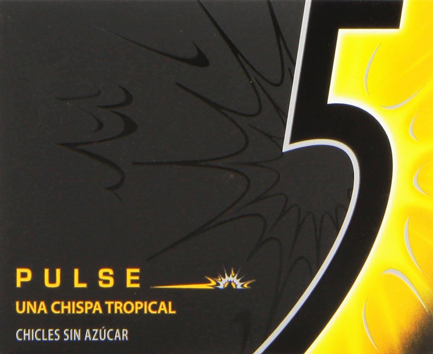 396fe0ede 5 - Pulse - Chicle sin azúcar con sabor tropical - 12 láminas  Amazon.es   Alimentación y bebidas