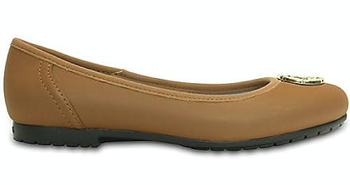 Crocs - Mocasines de Sintético para Mujer Marrón Hazelnut/Gold 35 EU: Amazon.es: Zapatos y complementos