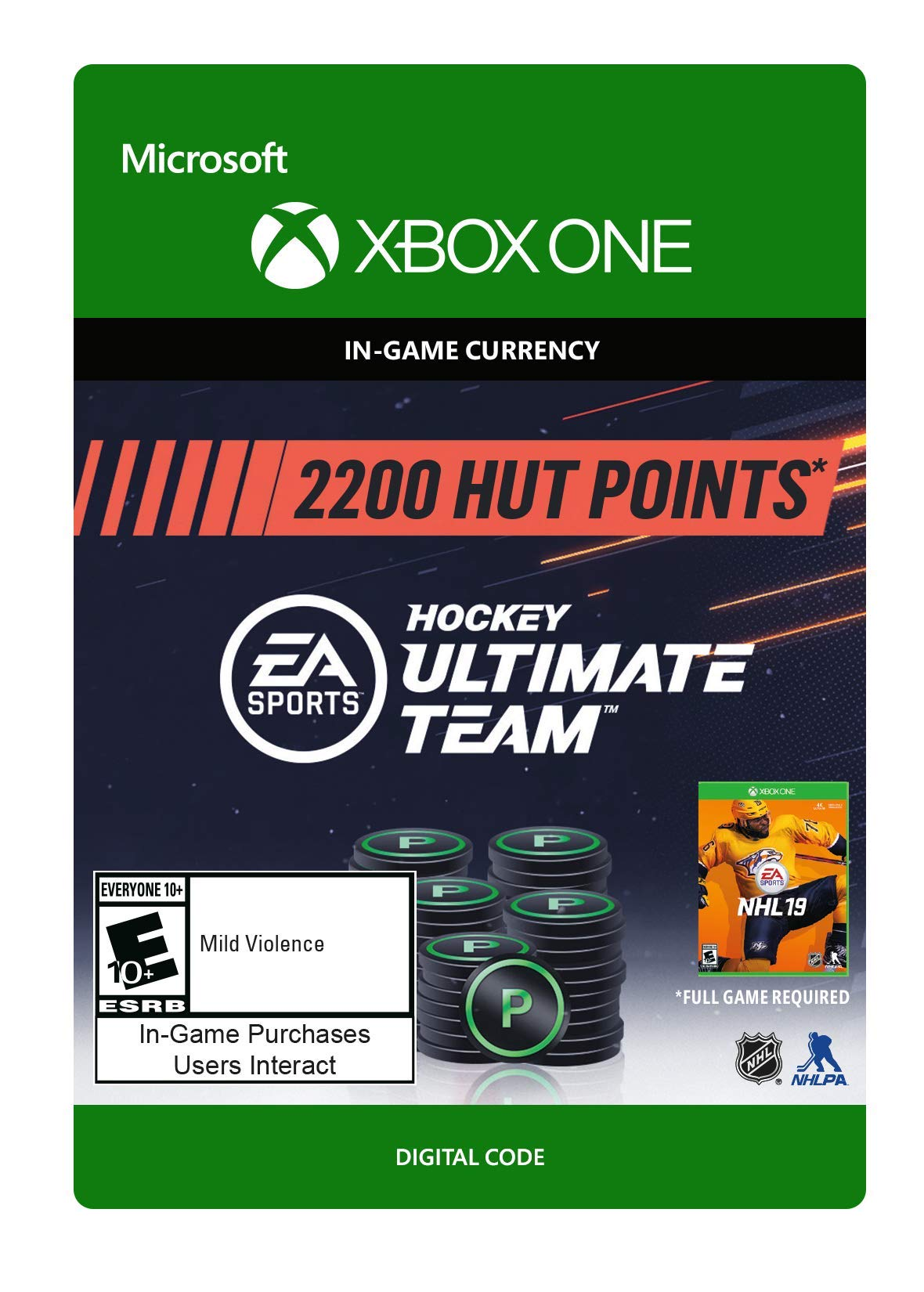 NHL 19 Ultimate Team NHL Points 2200 - Xbox One [Digital Code]