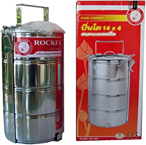 Rocket Food Carrier 4 X Stainless Steel Saucepans with Carrying Cradle Brand