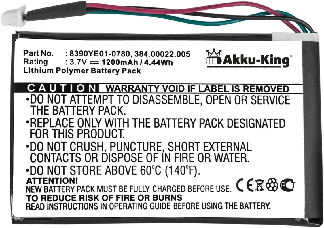 6310 Akku-King Akku kompatibel mit Navigon 0923FLYE31938 3310 Max 3310 f/ür 3300 4310 4310 Max Li-Polymer 1200mAh 6350 Live