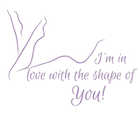 Ed Sheeran Shape Of You Love Song Music Lyrics Quote Sticker Bedroom