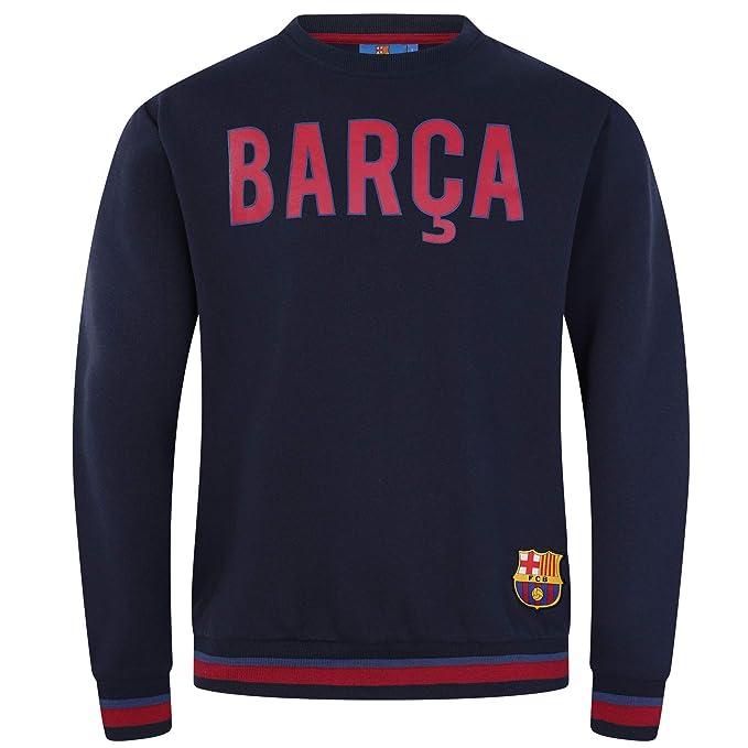 FCB FC Barcelona - Sudadera Oficial para Hombre - con el Escudo del Club: Amazon.es: Ropa y accesorios