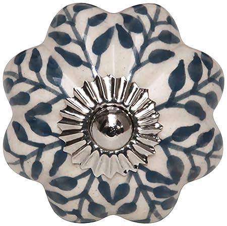 Bombay Duck SBA422TX Fez Hand Painted Ceramic Flower Door Knob ...