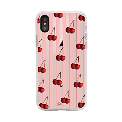outlet store 1b5b4 66340 iPhone Xs, iPhone X, Sonix Cherry Stripe Cell Phone Case [Military Drop  Test Certified] Women's Protective Clear Series for Apple iPhone X, iPhone  Xs