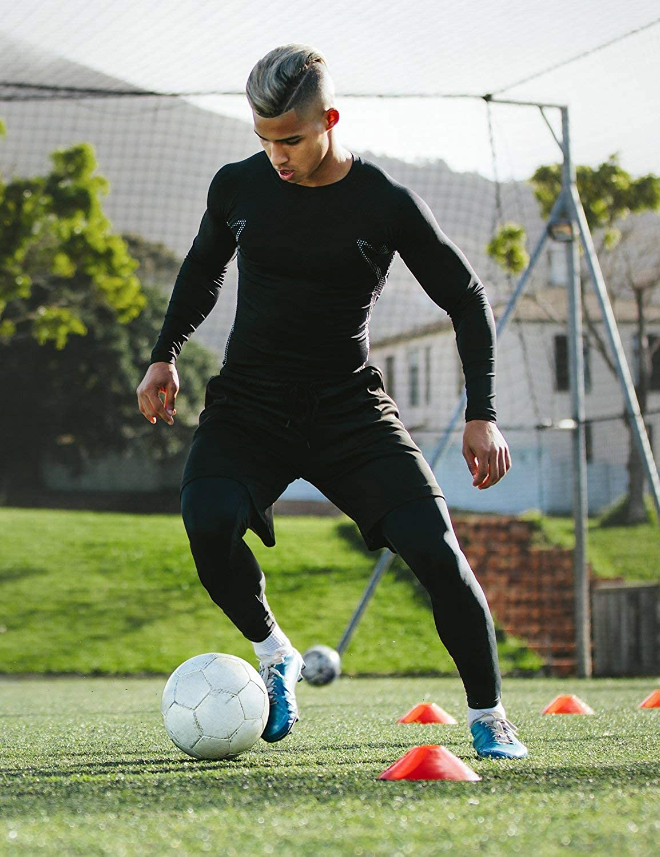 BALEAF Youth Boys'/Girls' Compression Pants Base Layer Yoga Leggings Sports Tights Running Workout Training: Clothing