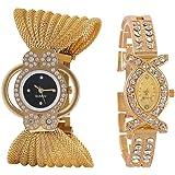Hinayat Fashion Black Analog Combo Watch