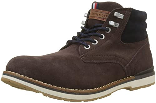 Boot Uomo Combat Tommy Suede Amazon Stivali it Outdoor Hilfiger qxt1R